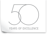 Badge 50 years of excellence